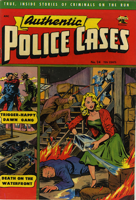 Authentic Police Cases #24. Matt Baker cover. Click for values
