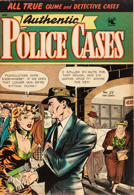 Authentic Police Cases #29. Matt Baker cover art. Click for values