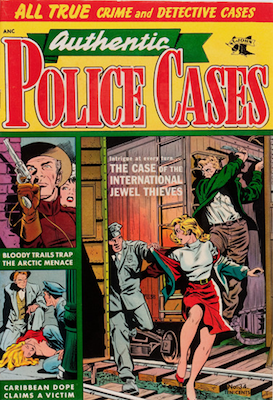 Authentic Police Cases #34: Matt Baker cover art. Click for values