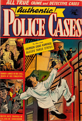 Authentic Police Cases #35: Matt Baker cover. Click for values