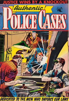 Authentic Police Cases #36: Matt Baker cover art. Click for values