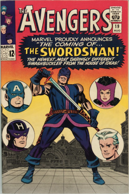 Avengers #19: First appearance of Swordsman. Click for values
