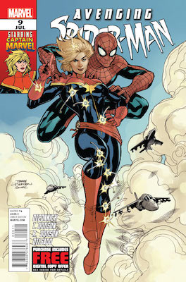 Carol Danvers (First Appearance as Captain Marvel, Avenging Spider-Man #9, July 2012). Click for value