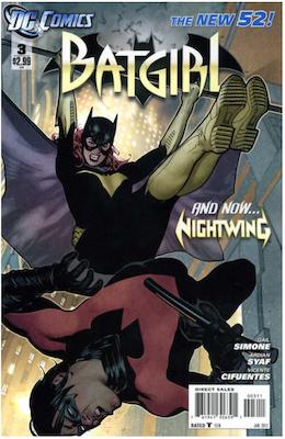 Batgirl #3 (2011). Click for values.