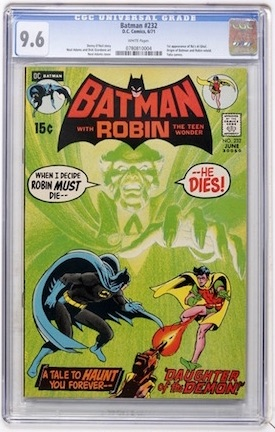 Look for a CGC 9.6 with white pages. Click to order a copy