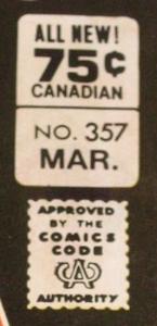 Batman #357 regular Canadian price variant box