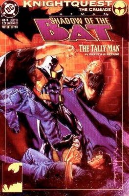 Origin and First Appearance, Tally Man, Shadow of the Bat #19, DC Comics, 1993. Click for value
