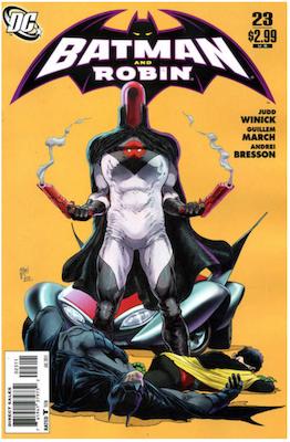 Batman and Robin #23 (2011). Click for values.