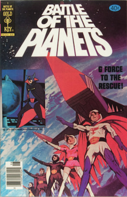 Battle of the Planets #1, Gold Key comics, 1979. Click for values