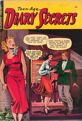 Blue Ribbon Comics #4 / Teen-Age Diary Secrets. Matt Baker. Click for values