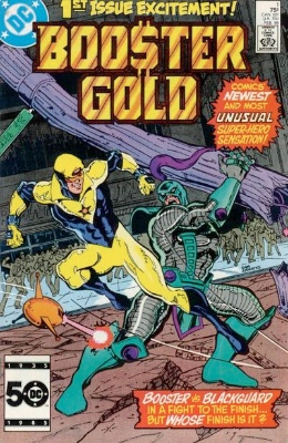 Origin and First Appearance, Booster Gold, Booster Gold #1, DC Comics, 1986. Click for values