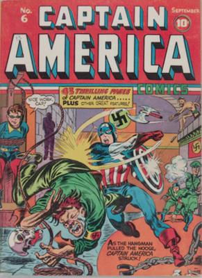 Captain America Comics #6. Click for current values.