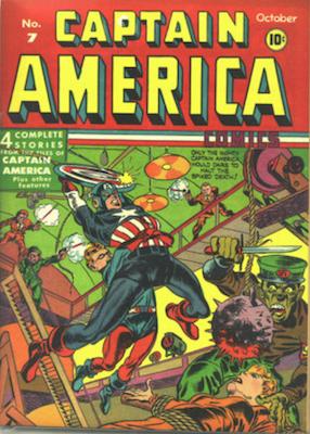 Captain America Comics #7. Click for current values.