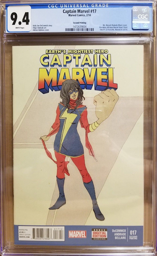 Captain Marvel 17 2nd Print CGC 9.4. Click to find one on eBay