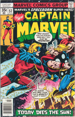 Captain Marvel #57. Click for current values.