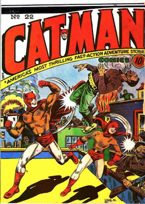 Cat-Man Comics #22. Click for current values.