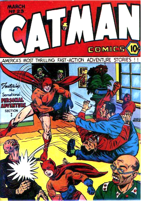 Cat-Man Comics #23. Click for current values.