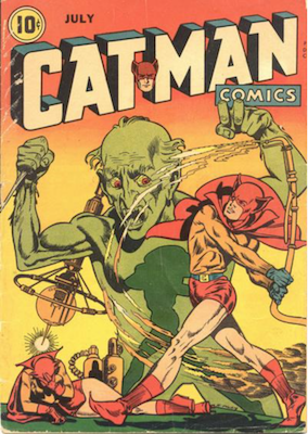 Cat-Man Comics #25. Click for current values.