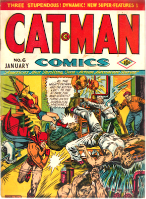 Cat-Man Comics #6. Click for current values.