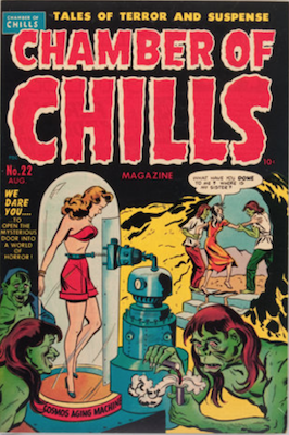 Chamber of Chills #2 was numbered #22, published 1951. Click for current values.