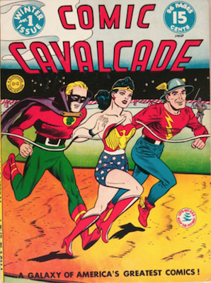 Comic Cavalcade #1: Appearances by Wonder Woman, Green Lantern, Flash, Ghost Patrol, Red White & Blue. Click for current values.