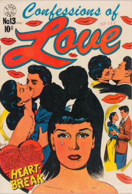 Confessions of Love #13: L. B. Cole cover. Click for values
