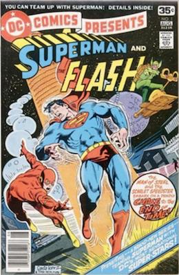 DC Comics Presents #1 4th Superman vs Flash Race. Click for values.