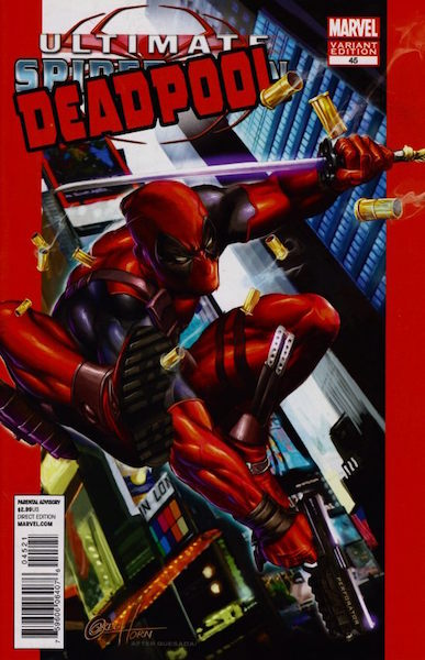 #58: Deadpool 45 Horn Variant (2010). Click for values