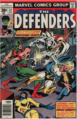 Defenders #47: Moon Knight appearance. Click for values.