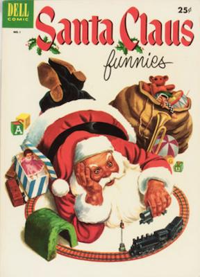 Santa Claus Funnies #1 (1952). Dell Comics. Click for values