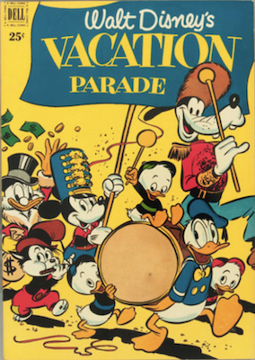Dell Giant Vacation Parade #2 (1951): First Cover Appearance of Uncle Scrooge. Click for values