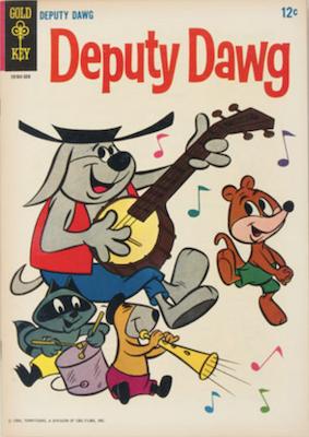 Deputy Dawg #1 (1965), Gold Key comics. Click for values