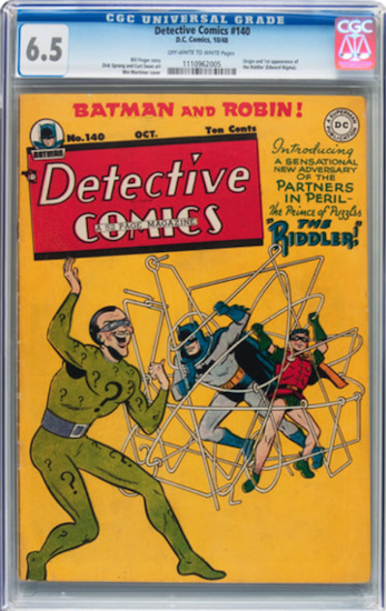 Wouldn't You Rather Own... Detective Comics #140 CGC 6.5? First appearance of The Riddler!