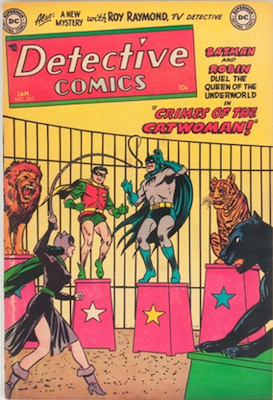 Detective Comics #203: Catwoman circus-themed cover. Click for values