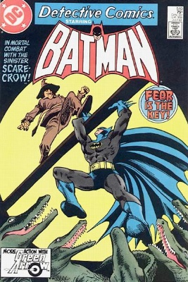 Batman #373/Detective #540 (July 1984): Scarecrow's New Method, cross-title story. Click for value