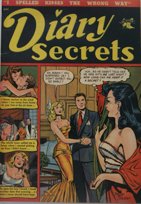 Diary Secrets #10. Matt Baker comic book. Click for values