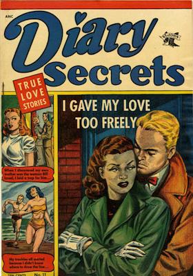 Diary Secrets #11: Matt Baker cover art. Click for values