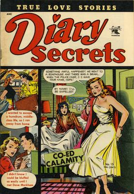 Diary Secrets #15, Matt Baker cover art. Click for values