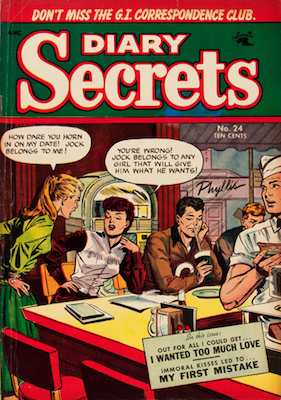 Diary Secrets #24, Baker cover art. Click for value