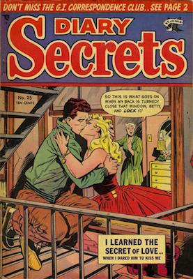 Diary Secrets #25: classic Matt Baker cover. Click for values