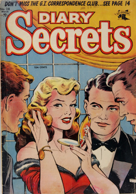 Diary Secrets #28: classic Baker cover. Click for values
