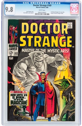 Dr Strange #169 looks amazing in CGC 9.8. But we would much rather own his true first appearance...