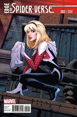 Edge of Spider-Verse #2 (2014): Gwen Stacy Becomes Spider-Woman Retailer Incentive Cover. Click for value