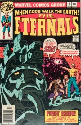Eternals #1: Origin and First Appearance. Story and Art by Jack Kirby. Click for values