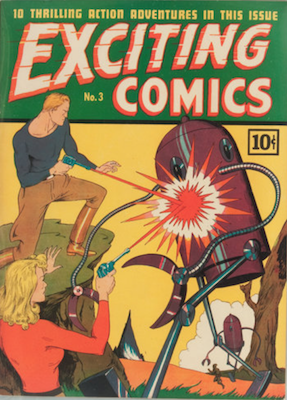 Exciting Comics #3. Click for current values.