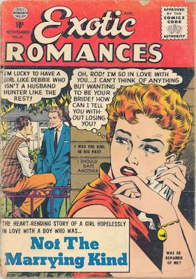 Exotic Romances (#31?), Rare Matt Baker comic book, Matt Baker cover. Click for values