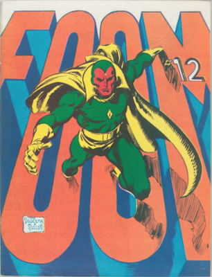 FOOM #12 (Friends of Old Marvel):Vision Cover. Click for values.