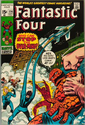 Fantastic Four #114: 1st Appearance of the Overmind. Click for values
