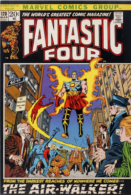 Fantastic Four #120: 1st Appearance of the Air-Walker. Click for values