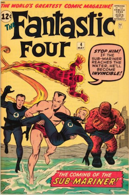 Hot Comics #73: Fantastic Four #4, 1st Silver Age Appearance of Sub-Mariner. NEW ENTRY FOR 100 HOT COMICS 2017. Click to buy a copy